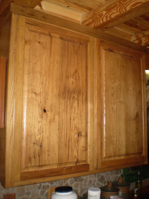 Double D Contracting Wormy Chestnut Custom Made Cabinets