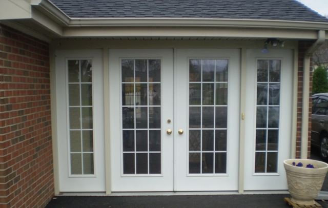 Carport Converted To Sunroom With French Doors