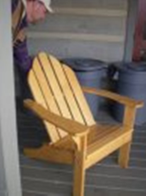 Adirondack Chair Made From A 100 Year